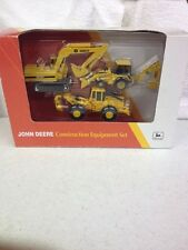 1/64 John Deere Construction Set With Log Skidder, Backhoe, Excavator