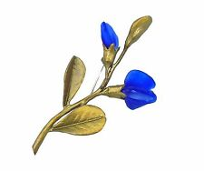 FALSE INDIGO BLUE GLASS PIN/BROOCH BY MICHAEL MICHAUD FOR SILVER SEASONS  5826BZ