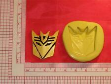 Transformers Decepticon 2D Silicone Mold #691 Cake Chocolate Resin Clay Craft