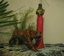 Vintage Afro American African Native Beautiful Woman Plastic Figurine with Child