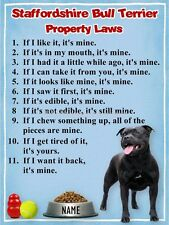 STAFFORDSHIRE BULL TERRIER Property Laws Magnet