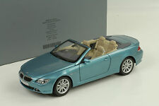 BMW E64 6er 6 Series Cabrio Convertible light blue metallic 1:18 Kyosho Dealer