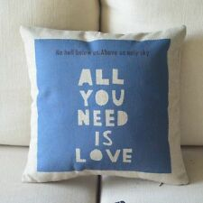 "Vintage ""ALL YOU NEED IS LOVE "" cushion cover Home Decor pillow case 45cm*45cm"
