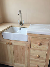 BABY BELFAST BUTLER WHITE CERAMIC SINK NEW WITH CHROME WASTE AND OVERFLOW KIT