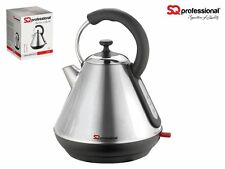 SQPro Legacy Kettle Quartz 1.8L Silver Stainless Steel Professional 2.2KW New