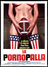 LA PORNOPALLA MANIFESTO CINEMA EROTICO 1962 THE CHEERLEADERS MOVIE POSTER 4F