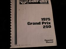 RARE Can-AM Grand Prix 250 MX OPERATOR MANUAL 1975 DOWNLOAD
