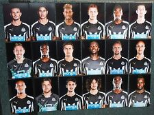 COLLECTION OF NEWCASTLE UNITED 2014-15 FOOTBALL PHOTOS 18 PLAYER PORTRAITS