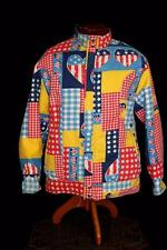 EXCEPTIONAL COLLECTORS VINTAGE EARLY 1970'S VIVID COTTON MOD REV JACKET SIZE MED