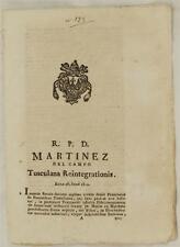 SENTENZA SACRA ROTA TUSCOLANA EREDITA REINTEGRAZIONE FRANCESCO DE PARENTI 1820