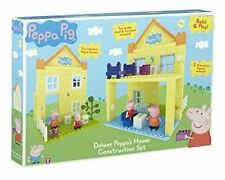 New Peppa Pig Deluxe Peppa's House Construction Buidling Block Playset