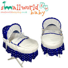 Personalised Royal Star Moses Basket Cover Set With Skirt