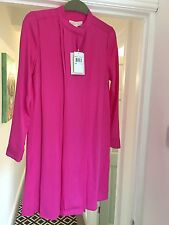BNWT RRP£325 MICHAEL KORS RADIANT PINK SILK BLOUSE DRESS SIZE UK 6