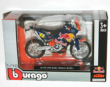 DAKAR RALLY REDBULL KTM SXF450 1:18 Die-Cast Motocross MX Toy Model Bike blue