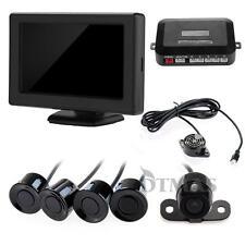 """Set Monitor 4.3"""" LCD Cámara 480TV Marcha Atrás Aparcamiento 4 Sensor para Coche"""