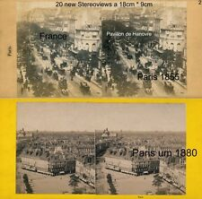 20 Stereoviews von PARIS, Lot 2, France Frankreich 1855 - 1900 images stéréo