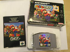 NINTENDO 64 N64 GAME PAK CARTRIDGE SUPER MARIO GOLF +BOX INSTRUCTI' COMPLETE PAL