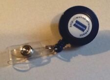 Blockbuster Video Retractable Recoil Lanyard With ID Card Badge Clip Blue
