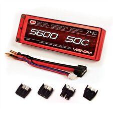 Venom 50C 5600mAh 7.4V 2 CELL LiPo Battery Traxxas Deans EC3 VNR15087 VEN15087