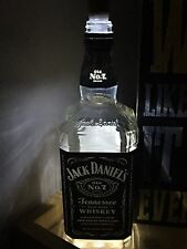 Jack Daniels USB light lamp empty bottle rechargeable w/ 2 lights