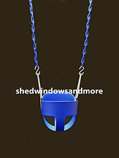 Full Bucket Swing Blue with Chain, Toddler Bucket Swing, Swingset Swing Seat,