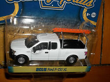 GREENLIGHT 1/64 COUNTRY ROADS SERIES 14 WHITE 2015 FORD F-150 XL WORK TRUCK