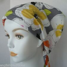 English Traditions Cancer Chemo Hair Head Wrap Summer Floral Scarf Hat Turban