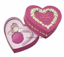 2015 Limited Laduree Keychain Ring Pink Macaron Rhinestone Charm Heart Gift Box