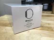 Apple Watch Series 2 42mm, GPS, Space Gray Aluminum Case, Black Band*New Sealed*