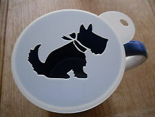 Laser cut scotty dog with bow design coffee and craft stencil