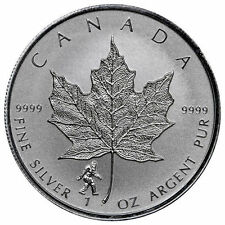 BIGFOOT PRIVY - 2016 1 oz Canadian Silver Maple Leaf Reverse Coin