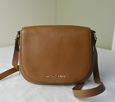 Michael Kors Luggage Pebble Leather Bedford Medium Flap Messenger Crossbody