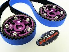 VMS 92-96 HONDA PRELUDE SI H23 GATES RACING TIMING BELT T216RB 2 CAM GEAR PURPLE