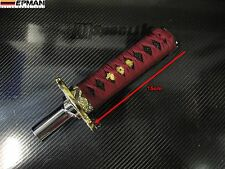 UNIVERSAL KATANA SAMURAI SWORD GEAR SHIFT KNOB 15cm BROWN fits HONDA TOYOTA