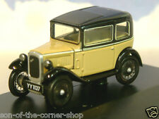 OXFORD DIECAST 1/76/OO AUSTIN SEVEN 7 RN SALOON IN FAWN (BEIGE) & BLACK 76ASS001