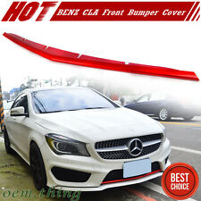 Paint Red Metallic For Mercedes BENZ W117 Front Bumper Lip Spoiler Cover CLA SB