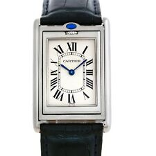 Cartier Tank Basculante Steel Large Mechanical Watch W1011358