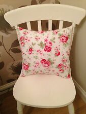 "Cath Kidston White Rosali Floral 18"" Cushion Cover Shabby Chic"