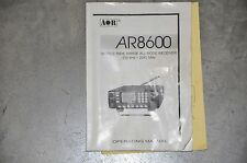 Aor AR-8600  Desktop Communications Receiver INSTRUCTION BOOK