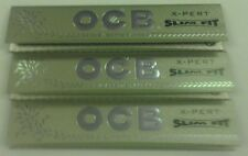 OCB X-PERT KING SIZE SLIM FIT CIGARETTE  ROLLING PAPERS 3 PACKS 96 LEAVES