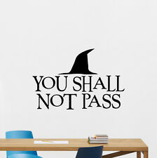 Lord Of The Rings Wall Decal You Shall Not Pass Vinyl Sticker Movie Decor 172crt