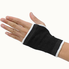 Elastic Black Palm Glove Left Right Hand Wrist Support Guard Sleeve One Size