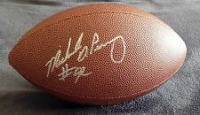 MICHAEL DEAN PERRY Signed Autographed Wilson NFL Logo Football, Browns, Broncos