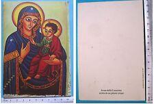 Biglietto ICONA DELLA CONSOLATA scritta da un pittore Etiope - 60029