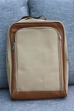 New Lap Top Bag Rucksac beige & brown size 16in x 12.5in padded lap top pocket