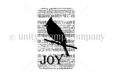 ittybitty by Unity Unmounted Rubber Stamps *Silhouette Song Bird* IB-34   458409