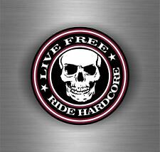 Sticker car motorcycle helmet decal vinyl chopper biker live to ride free