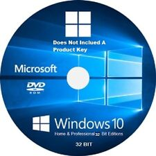 Windows 10 For Home & Pro 32-Bit /Re- Install /Repair DVD / Full Version