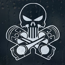 Piston Punisher Skull Car Decal Vinyl Sticker For Window Panel Bumper