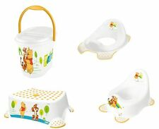 Winnie Pooh 4er Set  weiß Kindertopf  + WC Aufsatz + Hocker + Windeleimer